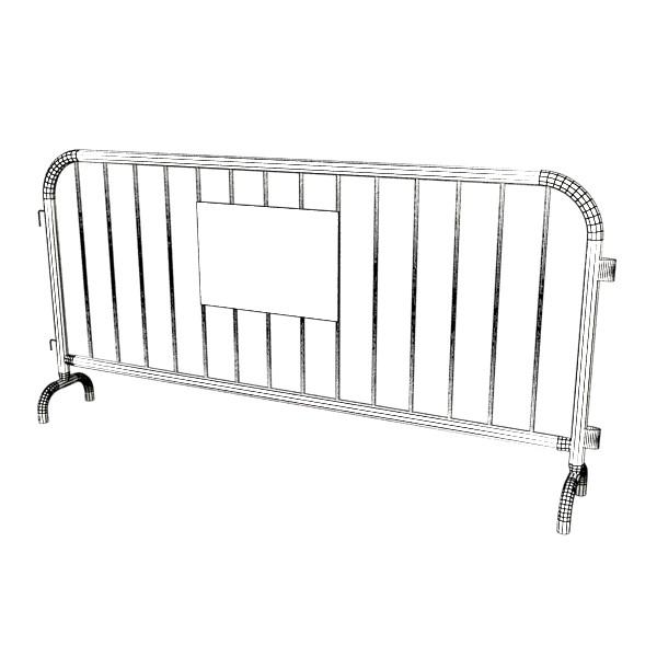 bariyer çit yüksək ətraflı 100 x 100 unwra 3d model 3ds max fbx obj 130909