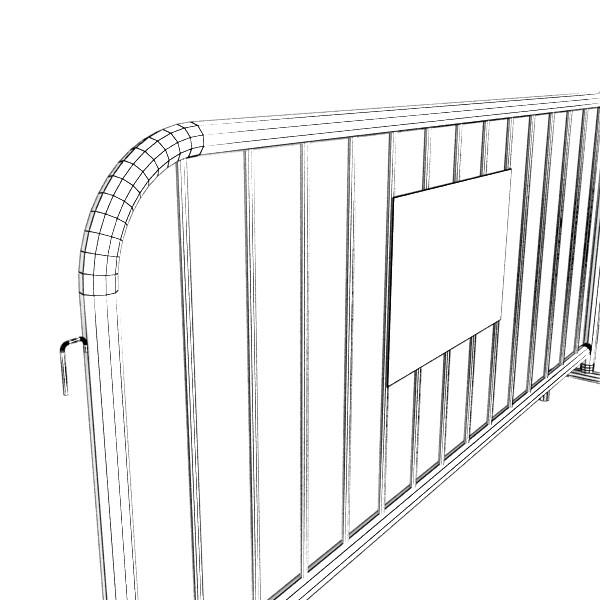 bariyer çit yüksək ətraflı 100 x 100 unwra 3d model 3ds max fbx obj 130910