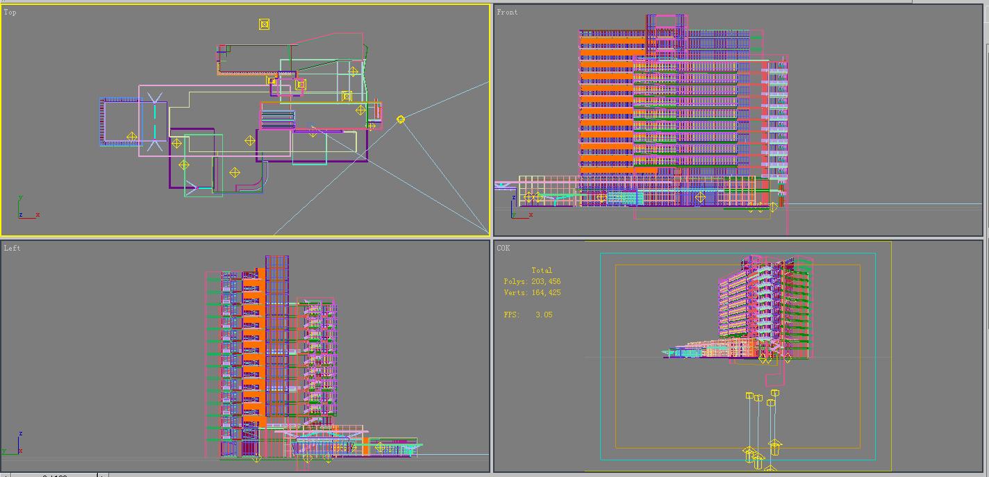 building 303 3d model 3ds max psd 98888