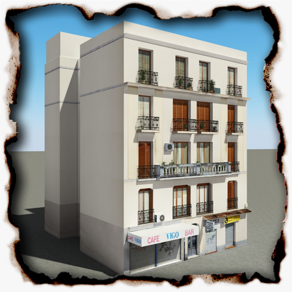 building 58 3d model 3ds max fbx texture obj 153929
