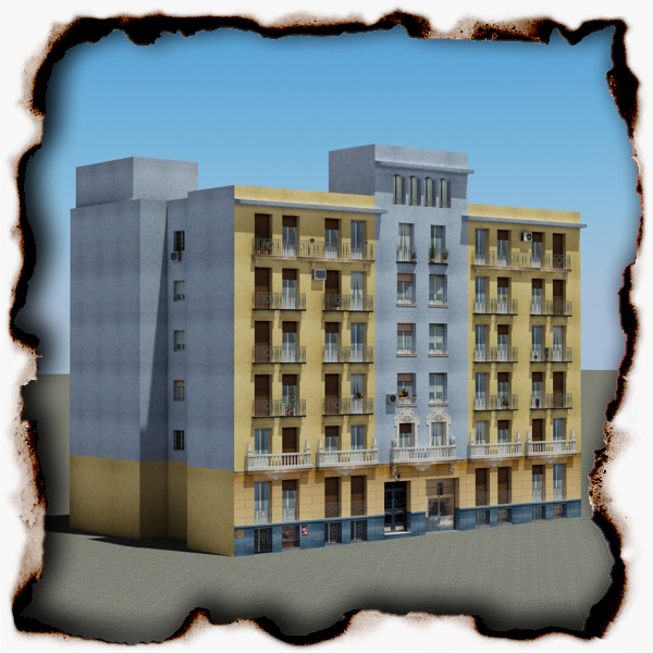 building 68 3d model 3ds max fbx obj 155415