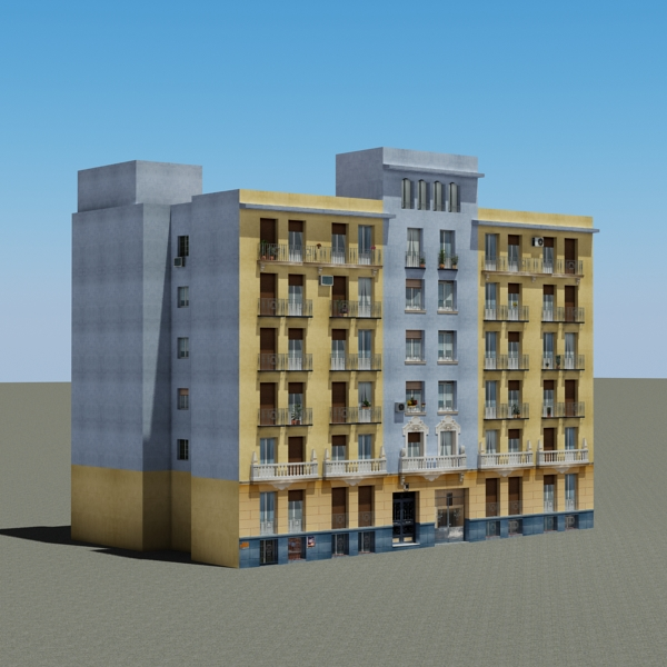 building 68 3d model 3ds max fbx obj 155416