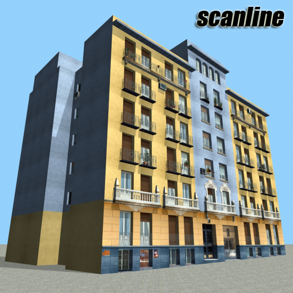 building 68 3d model 3ds max fbx obj 155425