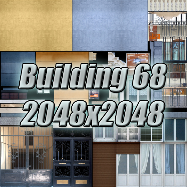 building 68 3d model 3ds max fbx obj 155430