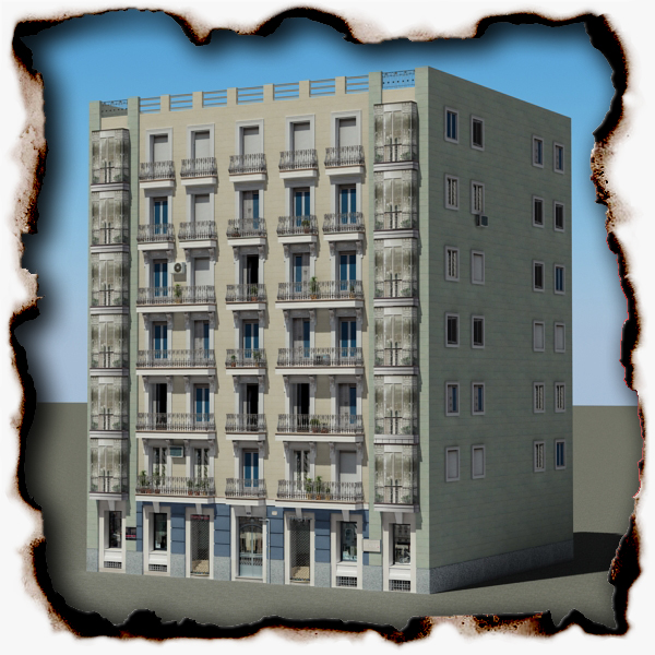 building 82 3d model 3ds max fbx texture obj 156972
