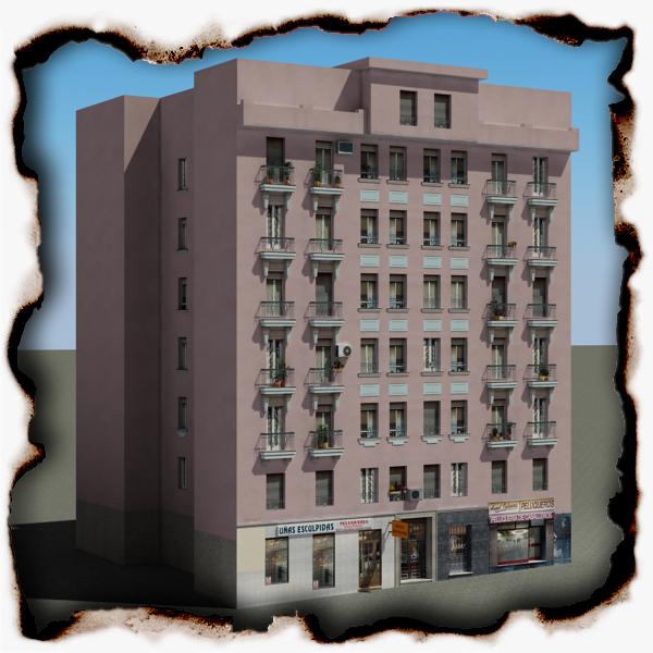 ēka 86 3d modelis 3ds max fbx faktūra obj 157312