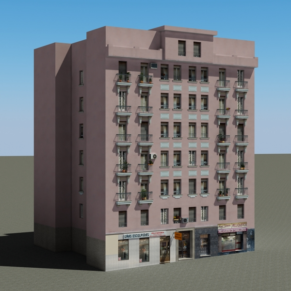 building 86 3d model 3ds max fbx texture obj 157313