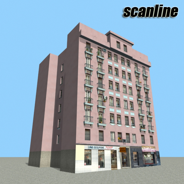 building 86 3d model 3ds max fbx texture obj 157321