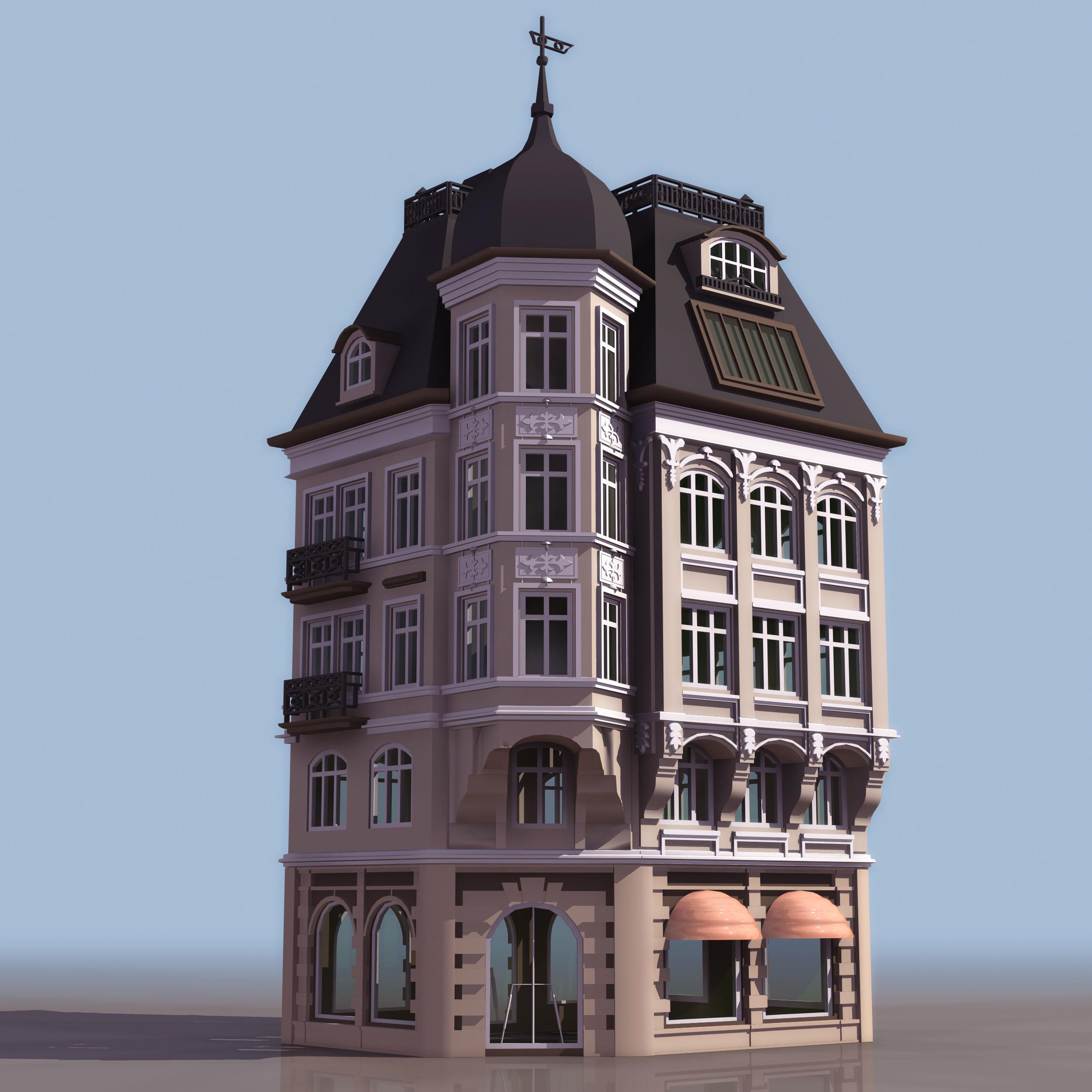 building_01 3d model 3ds 166185