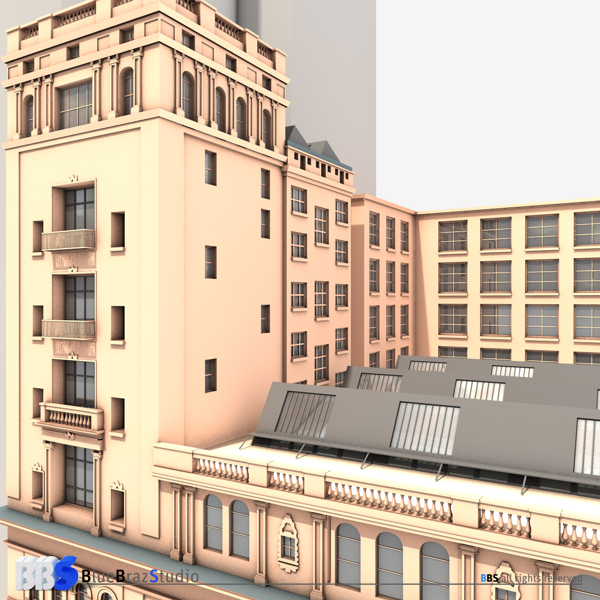 carnegie hall 3d model 3ds dxf fbx c4d obj 140660