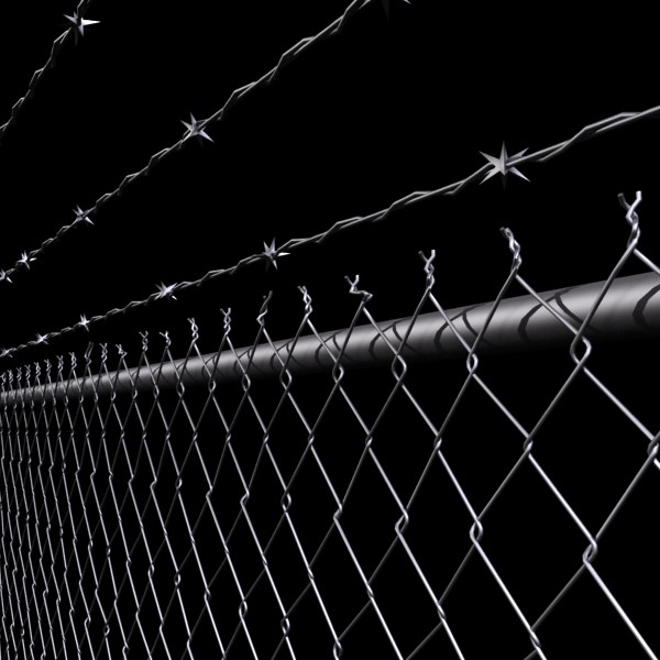 chainlink fence barbed wire high detail 3d model 3ds max obj 129962