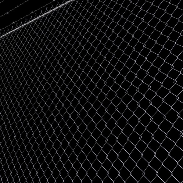 3D Model Chainlink fence Barbed wire High detail