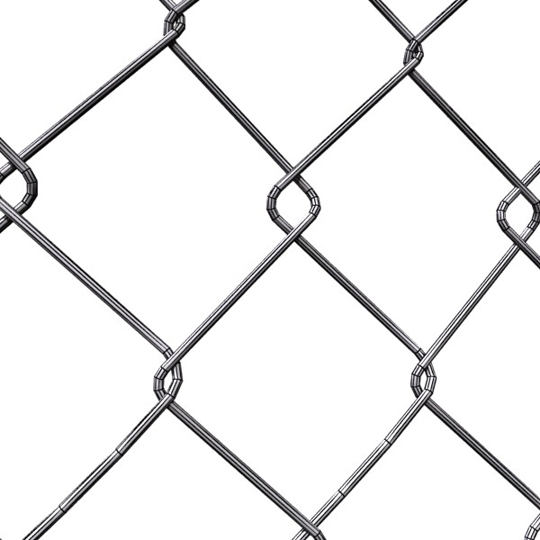 chainlink fence barbed wire high detail 3d model 3ds max obj 129968