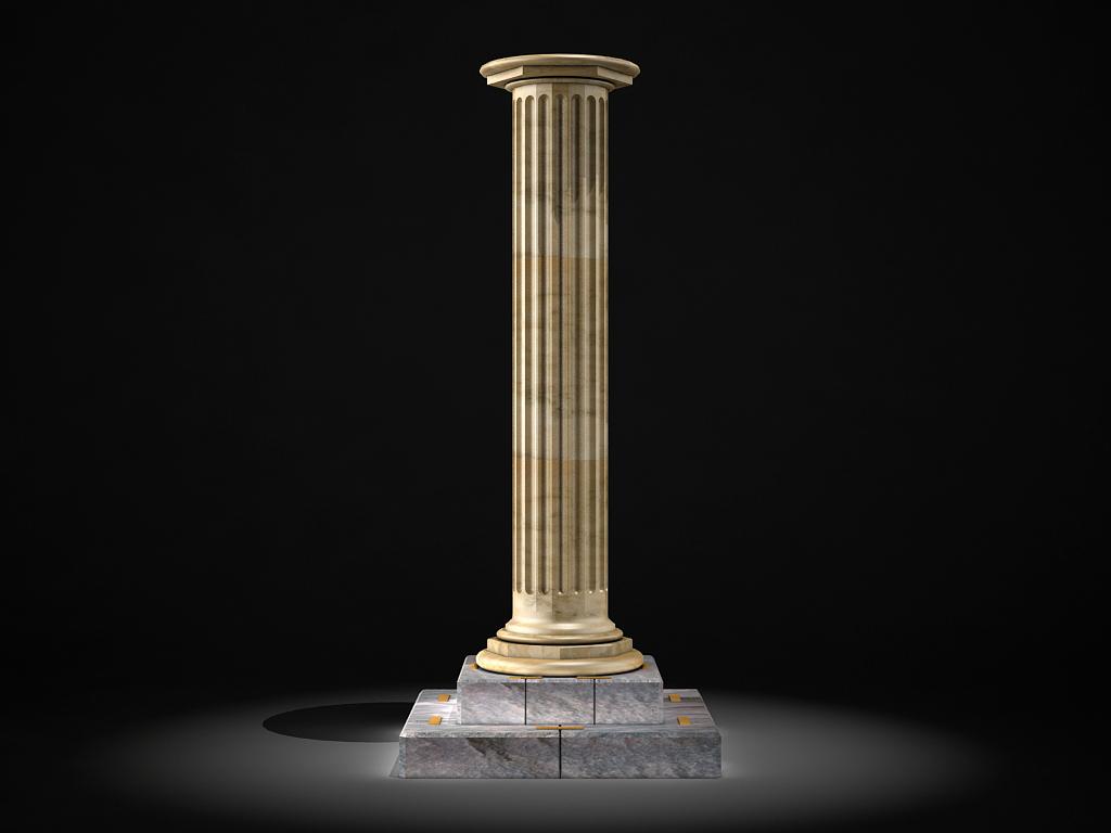 classic marble column 3d model max 141980
