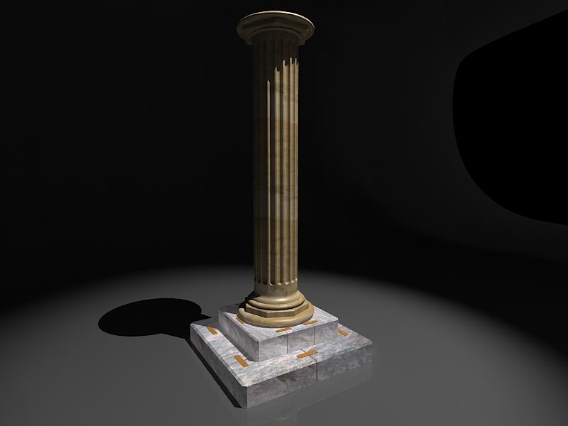 classic marble column 3d model max 141981