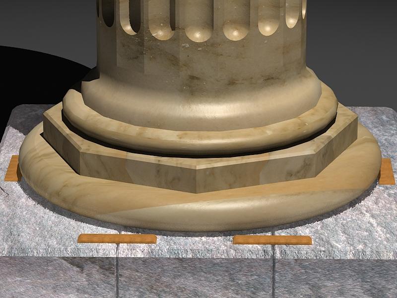 classic marble column 3d model max 141983