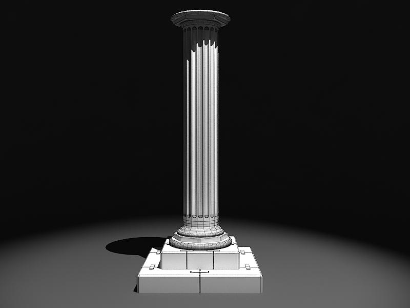 classic marble column 3d model max 141985