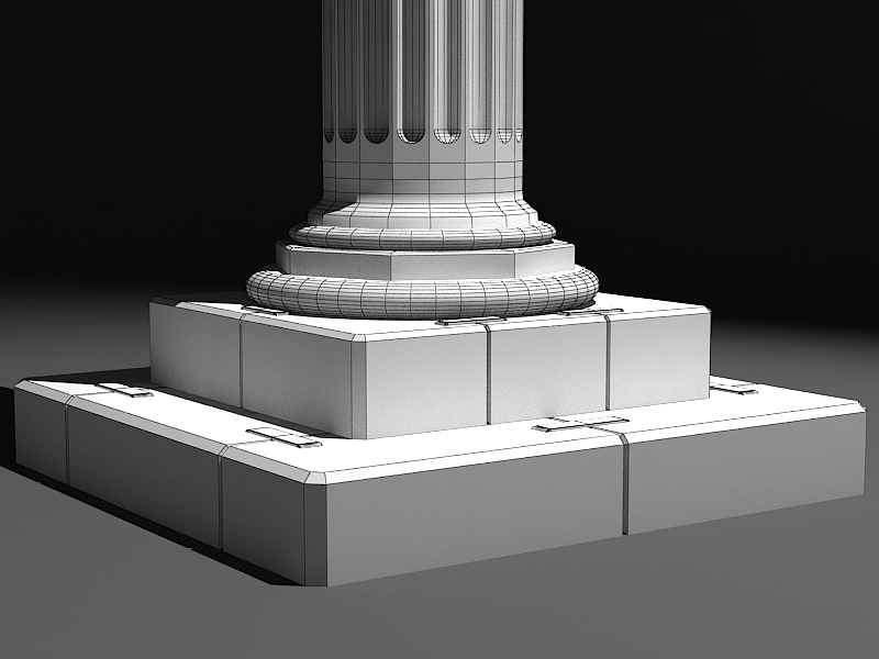 classic marble column 3d model max 141986