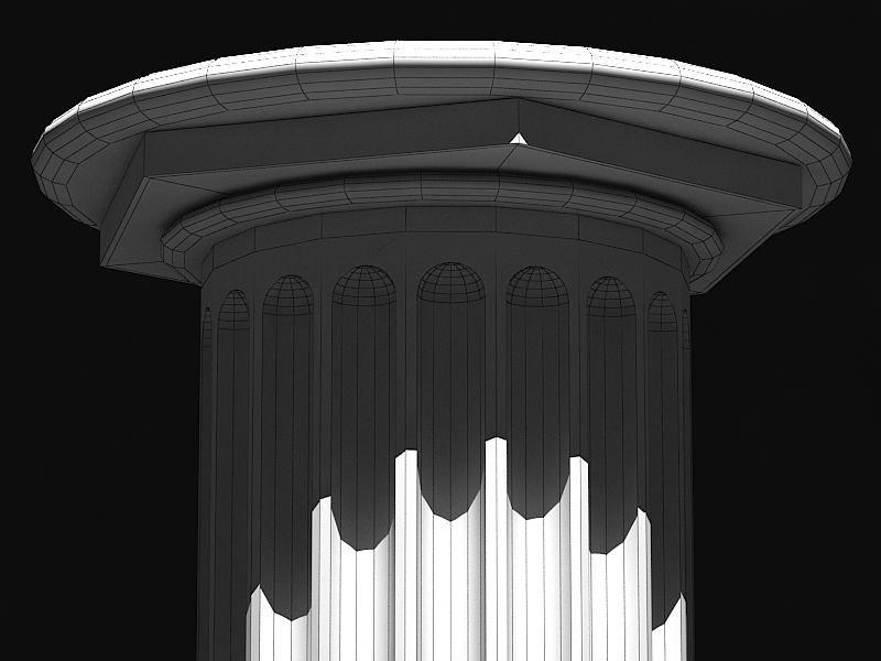 classic marble column 3d model max 141987