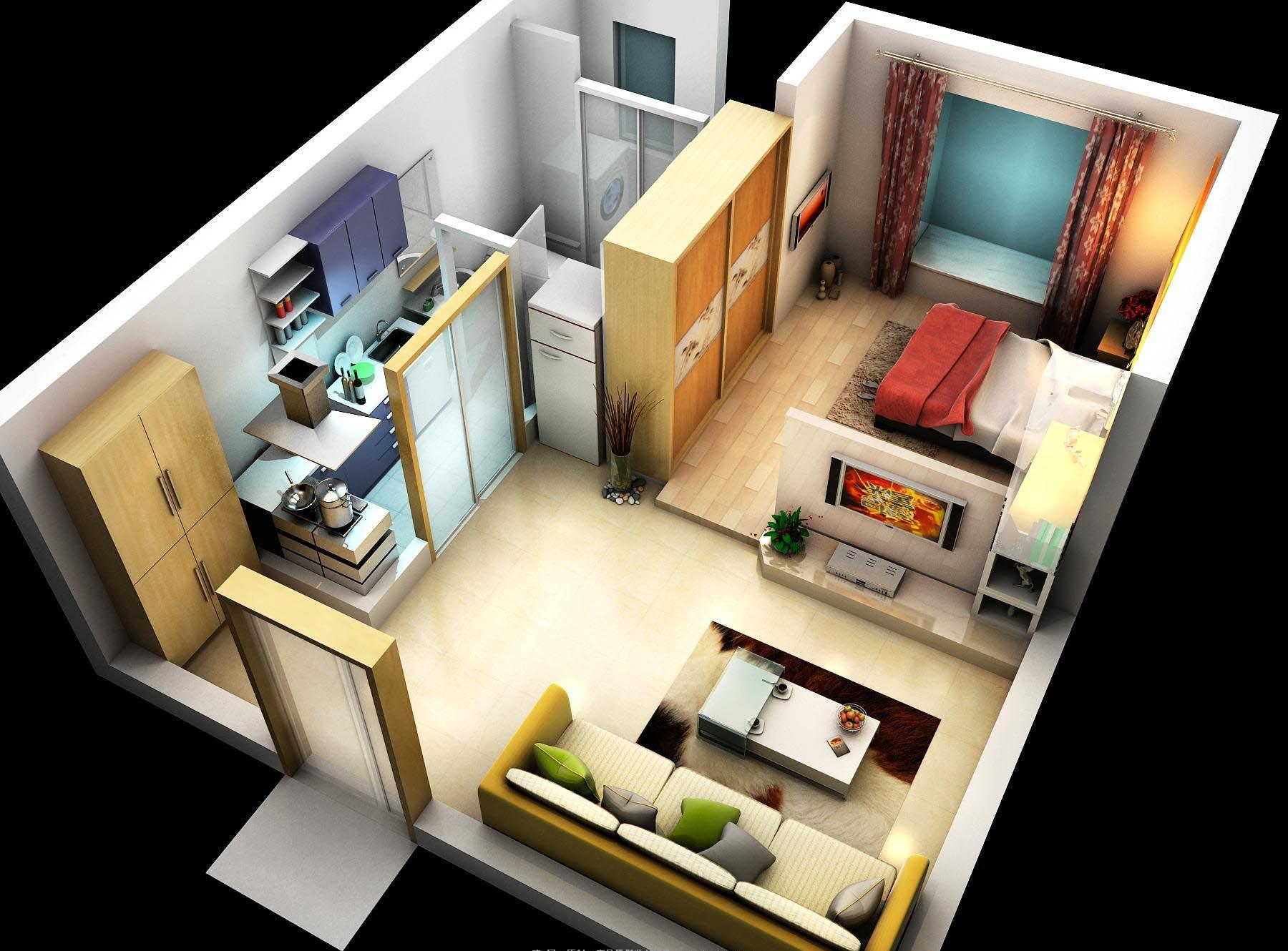 dzīvoklis 001 3d modelis max 120613