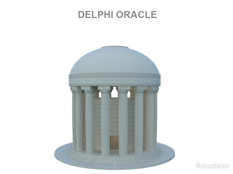 delphi oracle v2 3d model 3ds fbx c4d
