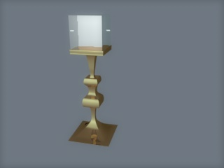display case and stand c4d. obj. 3ds. and .x 3d model c4d 159679