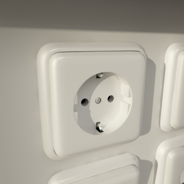električni prekidač i izlazna kolekcija 3d model 3ds max fbx obj 132170