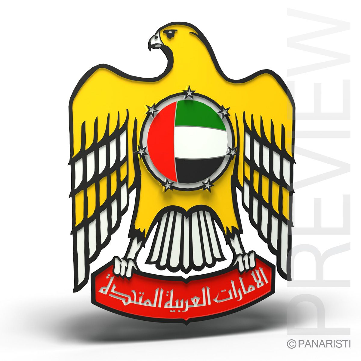 Emblem of the United Arab Emirates 3d model 3ds c4d lwo obj 157777