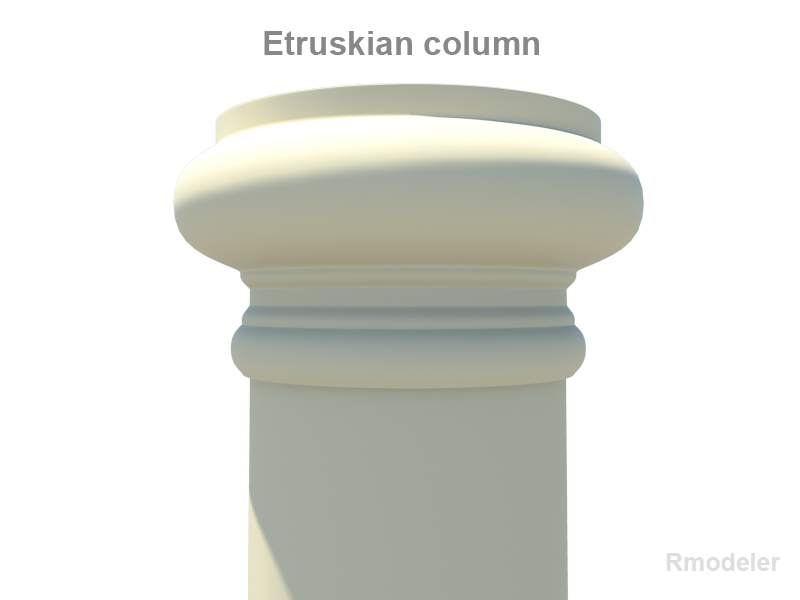 etruskian column 3d model 3ds fbx c4d lwo ma mb hrc xsi obj 119779