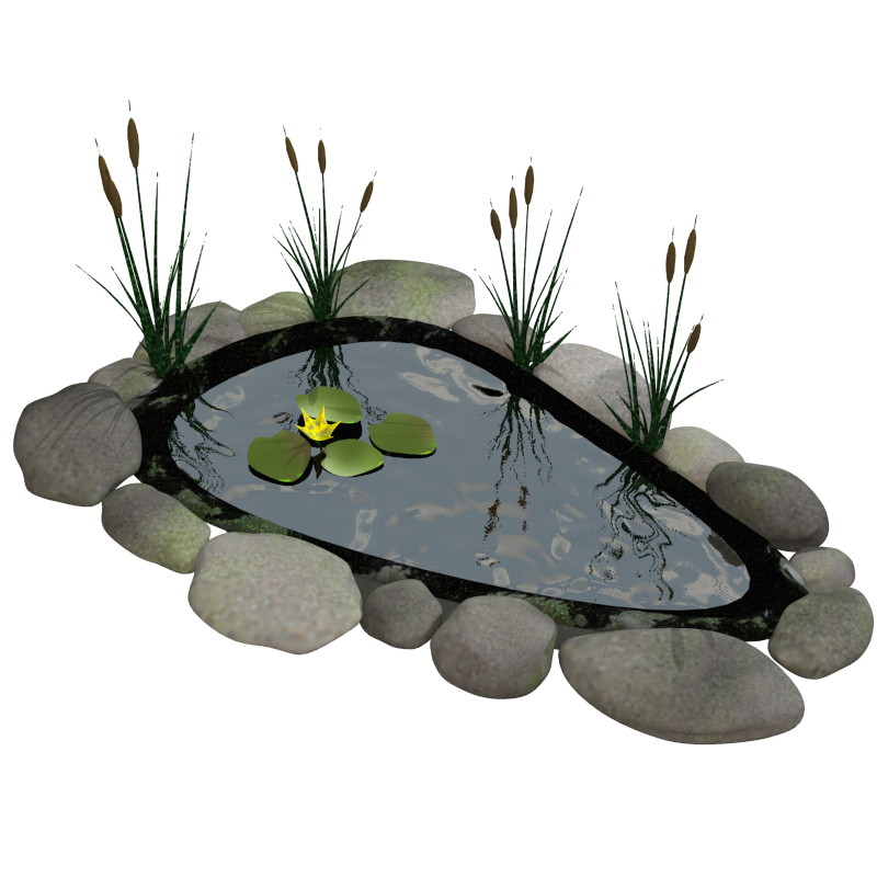 fish pond 3d model obj 148270