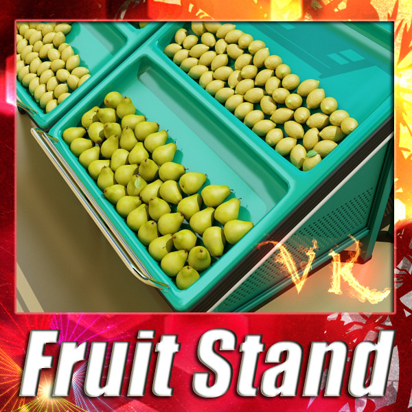fruit stand smoothable 3d model 3ds max fbx obj 134174