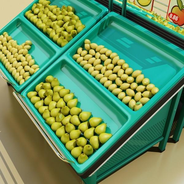 fruit stand smoothable 3d model 3ds max fbx obj 134177