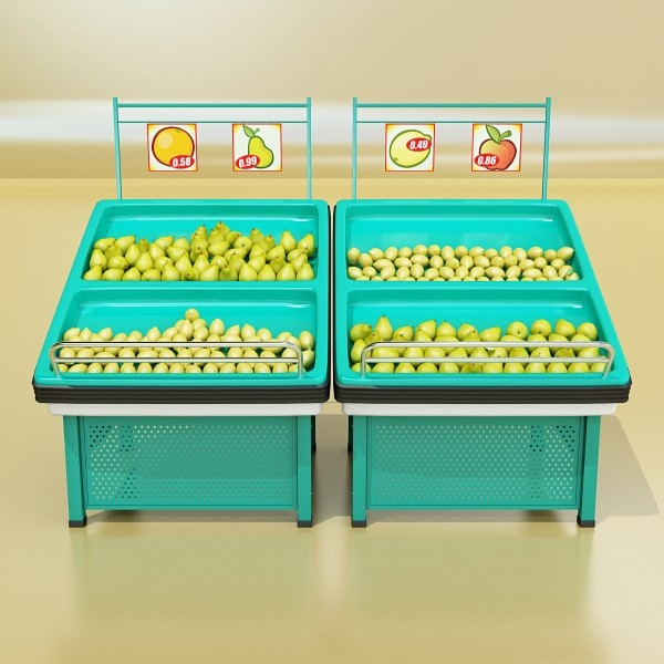 fruit stand store display 3d model 3ds max fbx obj 134138