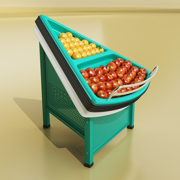 fruit stand store display 3d model 3ds max fbx obj 134156