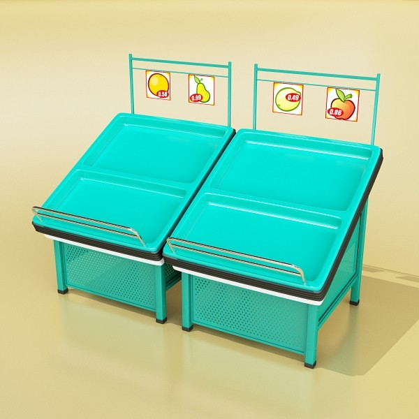 fruit stand store display smoothable. 3d model 3ds max fbx obj 134117
