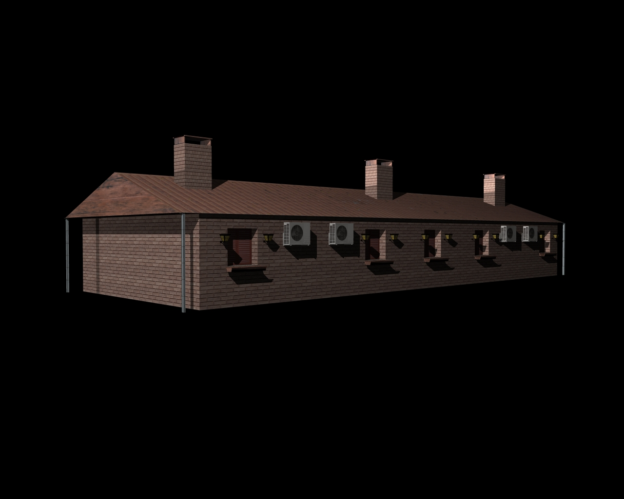 fully textured house ranch style 101 3d model 3ds 164431