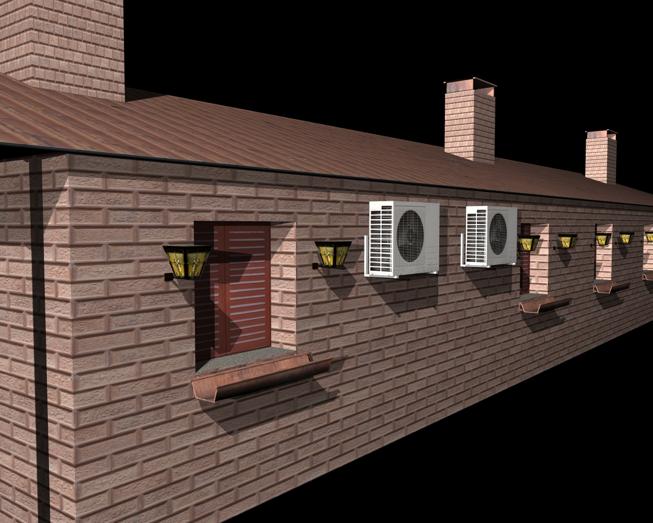 fully textured house ranch style 101 3d model 3ds 164432