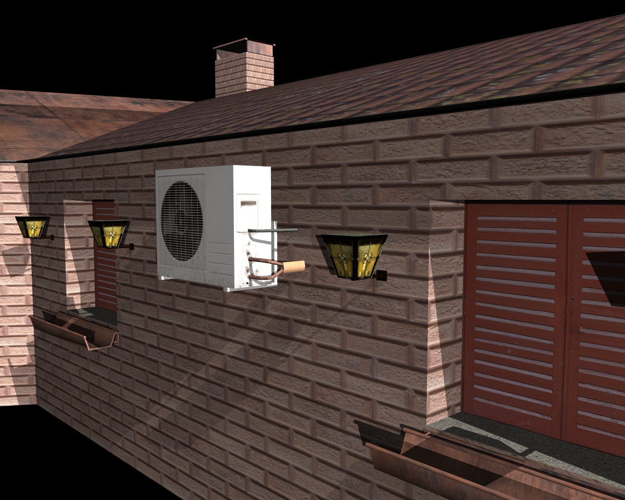 fully textured house ranch style 101 3d model 3ds 164433