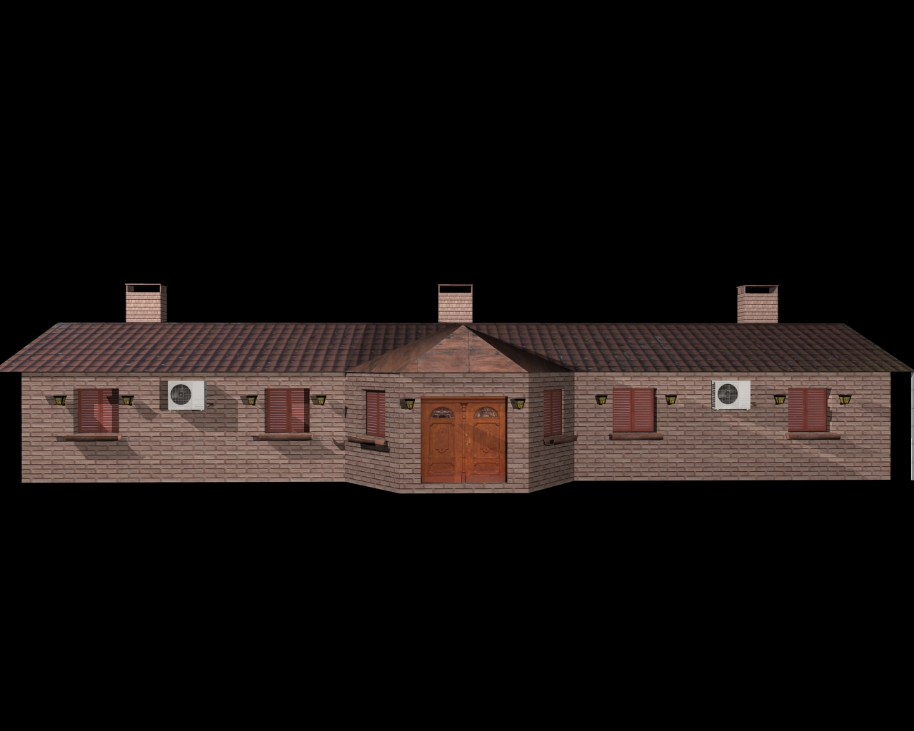 fully textured house ranch style 101 3d model 3ds 164436