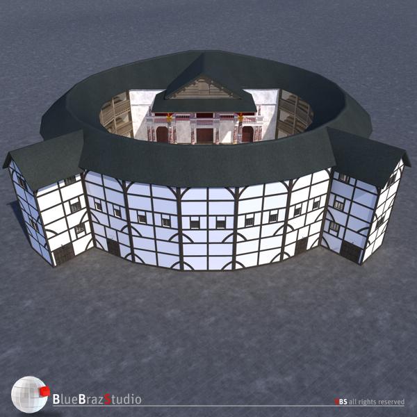 Globe theatre 3d model buy globe theatre 3d model for Theatre model