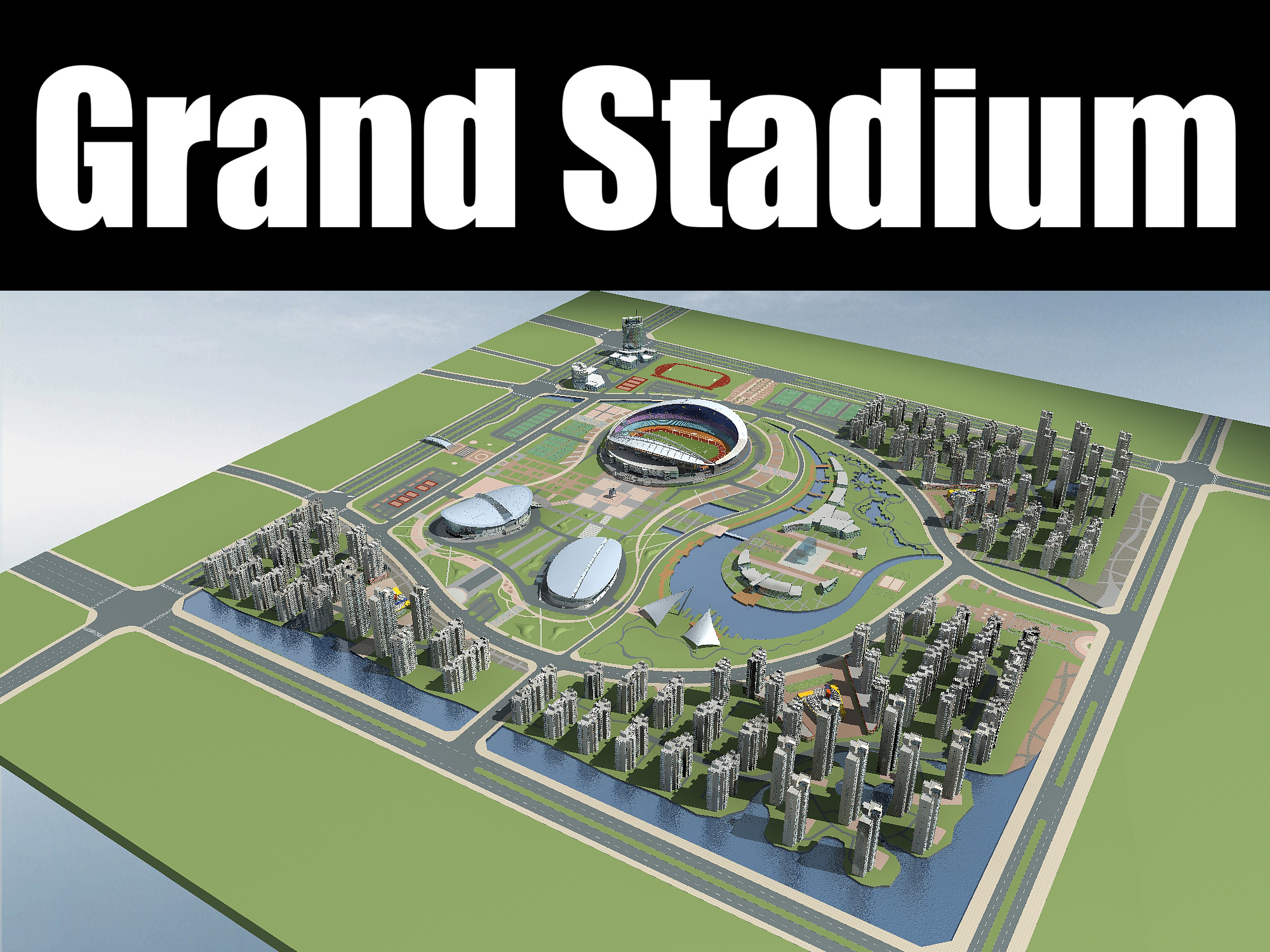 grand stadium 005 3d model 3ds max obj 98327