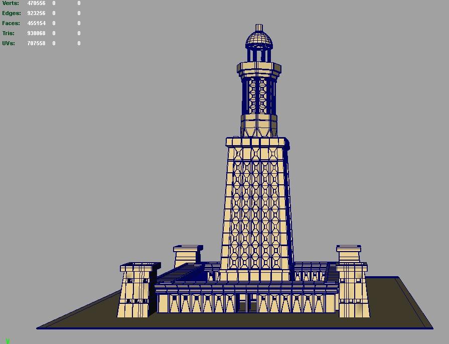 great light house of alexandria 3d model 3ds fbx c4d lwo ma mb hrc xsi obj 121019