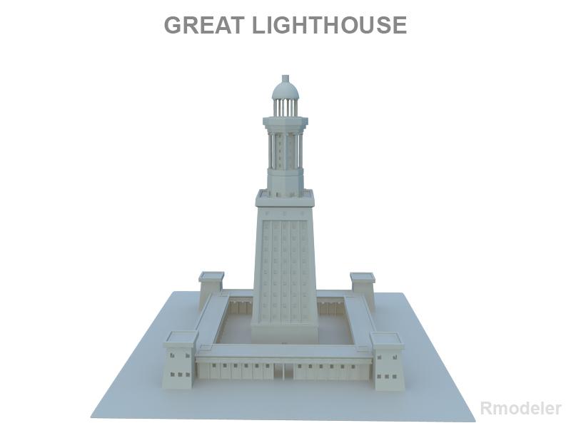 Great Light House of Alexandria 3d model 3ds fbx c4d lwo lws lw ma mb  obj 121015