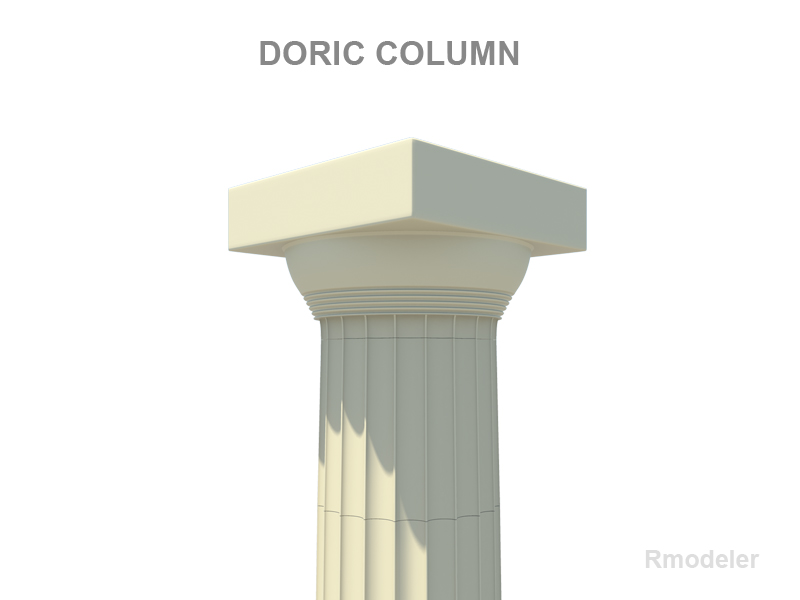 greek column doric 3d model 3ds fbx c4d lwo ma mb hrc xsi obj 119686