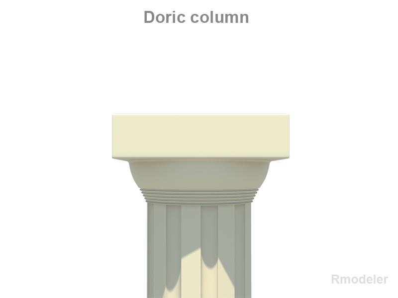 greek doric short column 3d model 3ds fbx c4d lwo ma mb hrc xsi obj 119801