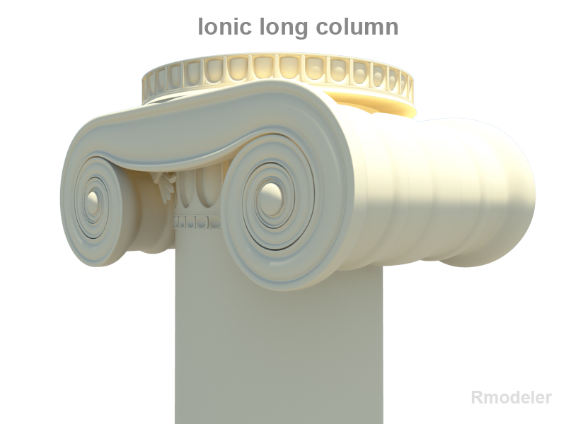 greek ionic long column 3d model 3ds fbx c4d lwo ma mb hrc xsi obj 119805