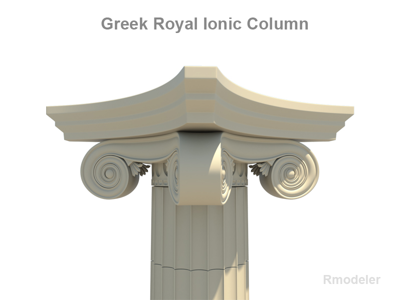 greek ionic royal column 3d model 3ds fbx c4d lwo ma mb obj 124670