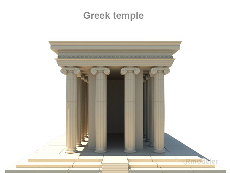 greek temple 3d model 3ds fbx c4d le hrc xsi obj 119702