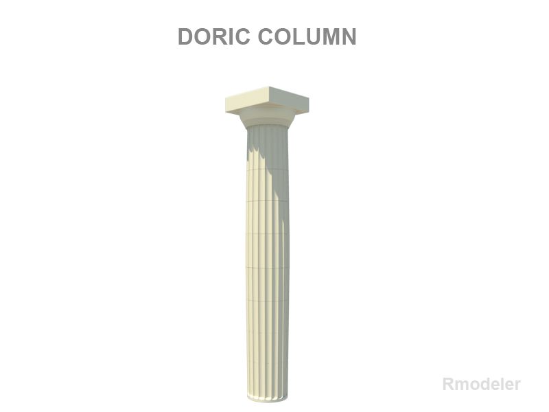 Greek column doric 3d model buy greek column doric 3d for Doric columns