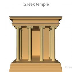 Greek Small Temple     ( 107.79KB jpg by rmodeler )